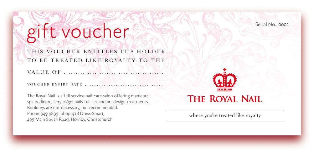 The Royal Nail – gift voucher design.