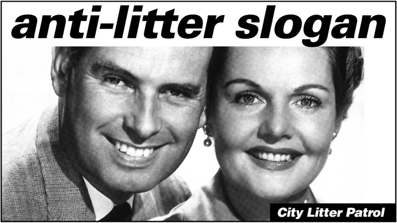 """Christchurch City Council – Anti-Litter campaign aimed at adolescent offenders. Rubbish truck graphics 6 of 7. """"Anti-litter slogan"""""""