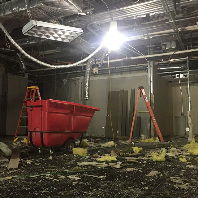 Early demolition phase for a tenant fit out for Main Line Health in Flagship Corporate Center.