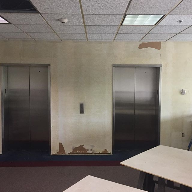 Renovations have begun at 200 E. State Street medical building.  New decorative  elevator panels were installed over the weekend.