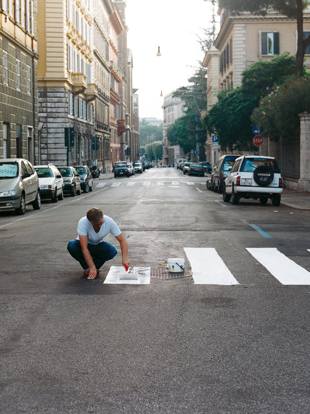 Didier Courbot, needs Rome, 1999, from the series need. [Courtesy of Susan Hobbs Gallery]