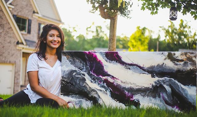 — new interview link in bio, Creating with Mehwish Wasi, of Wasi Artworks!  #wasiartworks #expression #painting #creativity #atlgirlgang #mgmgenius #atlantaartists