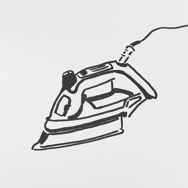 — sv86. | #iron #steam #drycleaning #press #scribble #sharpie #sketch