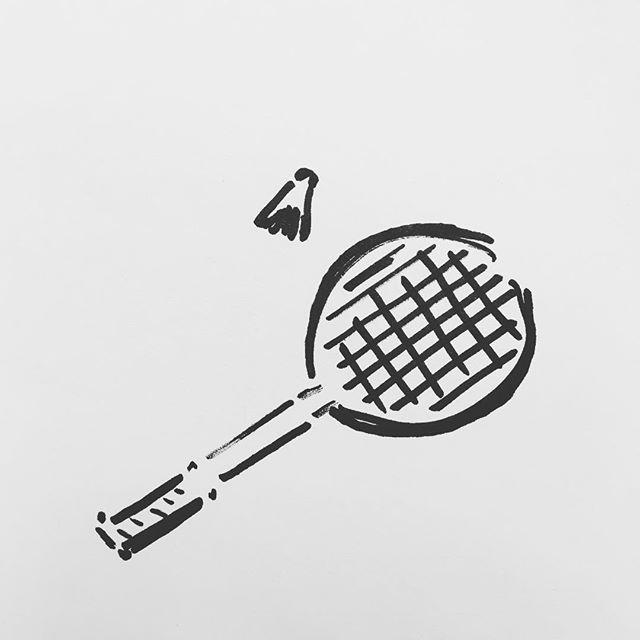 — sv90. | #badminton #racket #shuttlecock #scribble #sharpie #sketch
