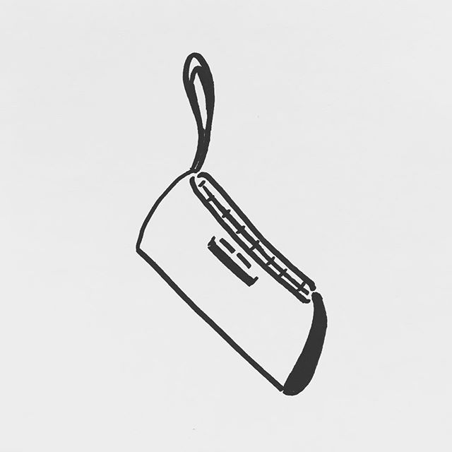 — sv92. | #clutchbag #wallet #accessories  #scribble #sharpie #sketch