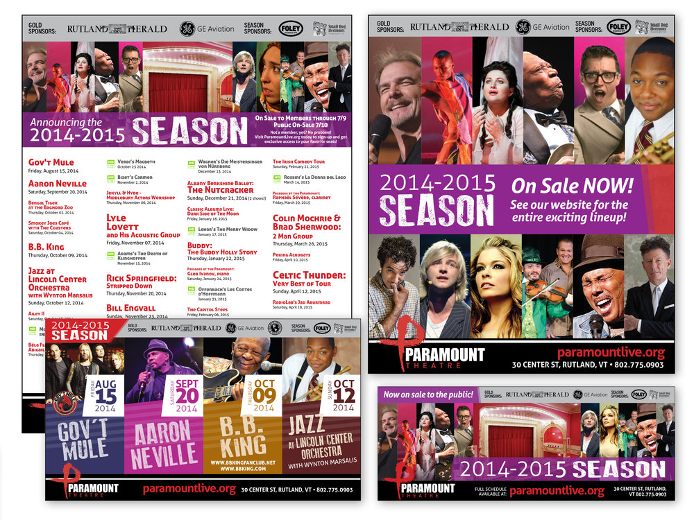 2014/15 Season Print Ad Series