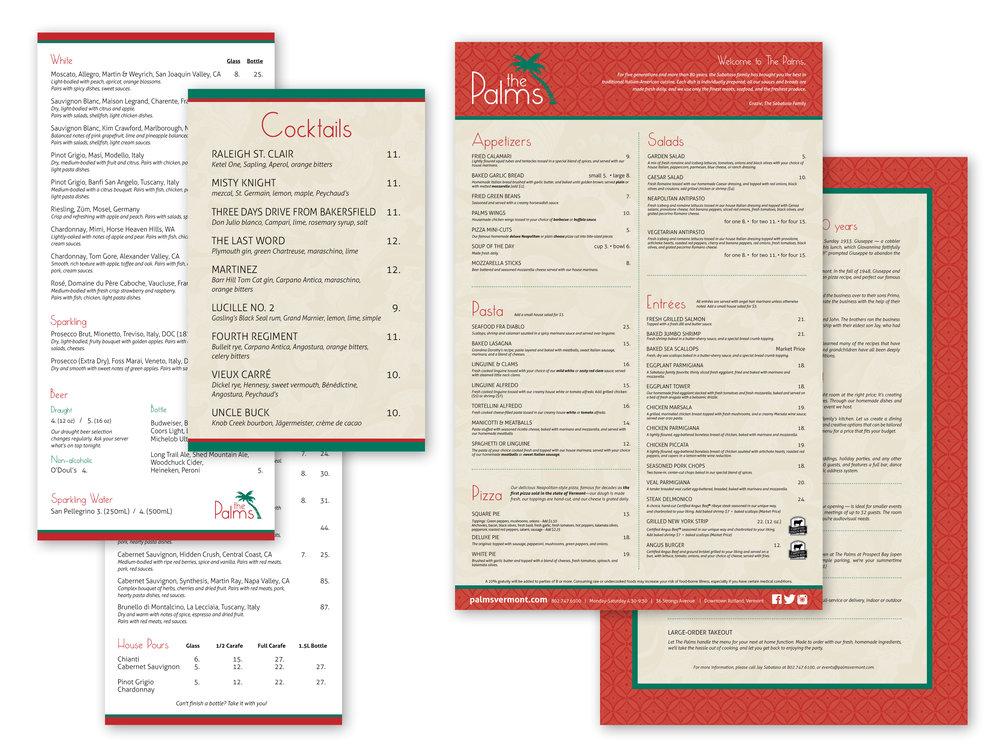 Restaurant Menus, 11x17, 4 1/4 x 6 1/2, 5 1/4 x 11 1/4