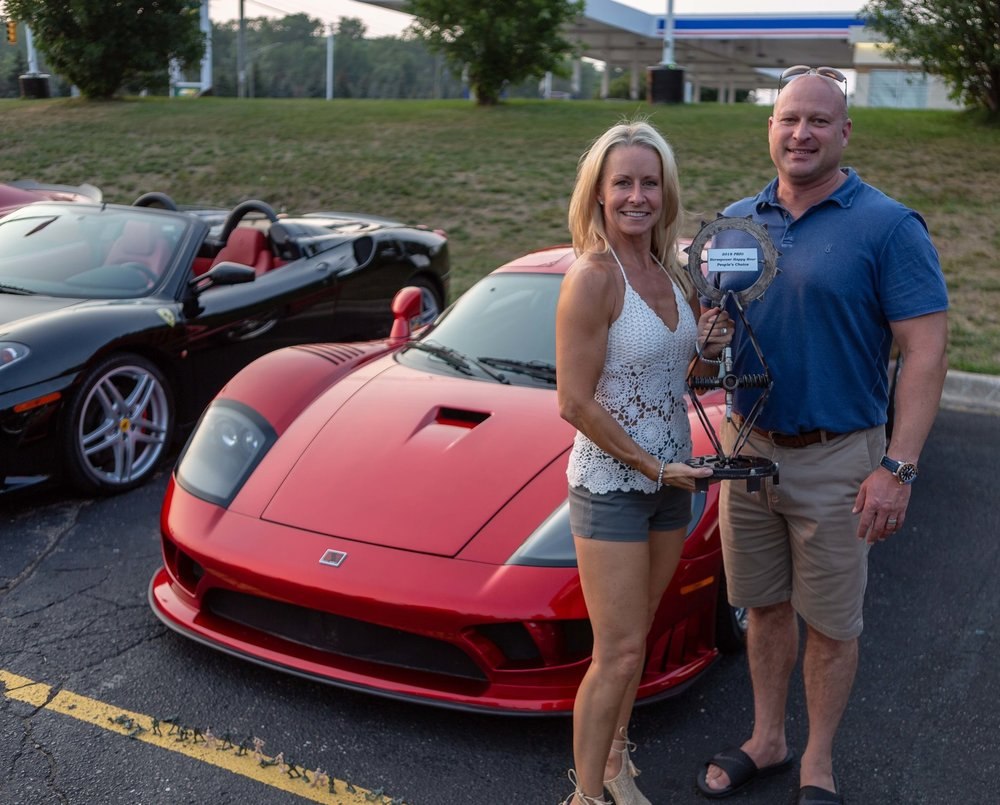 CONGRATS to People's Choice Winners: Leslie & Clark Harris and their Saleen S7!!