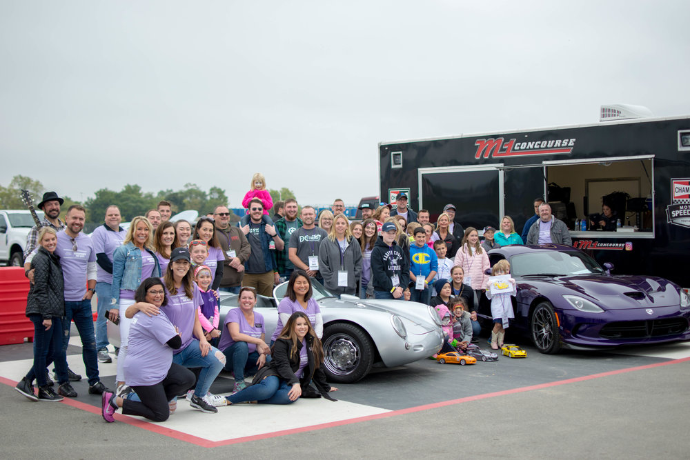 The VIP Families and all of our awesome volunteers with our car show winners!