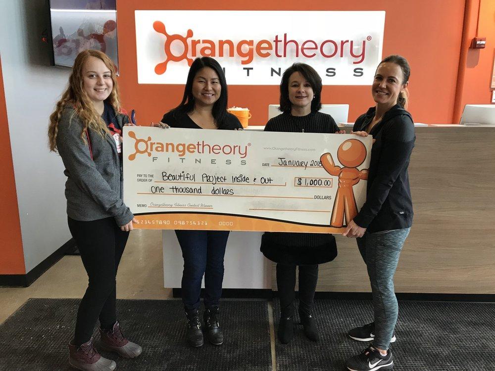 OrangeTheory Fitness donates $1,000!
