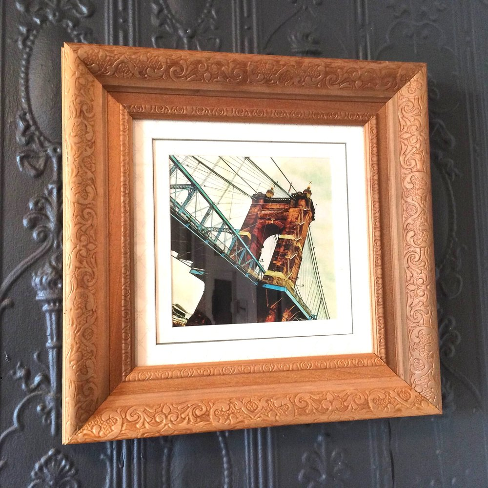 CLASSIC WOOD EMBOSSED FRAME  MULTI MATTE