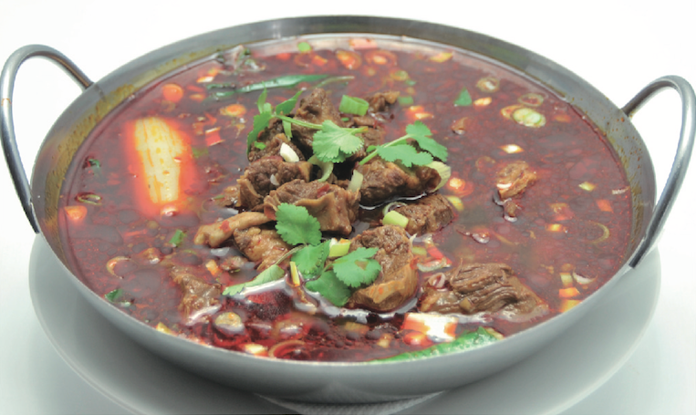 Hot and Spicy Beef in Hot Soup