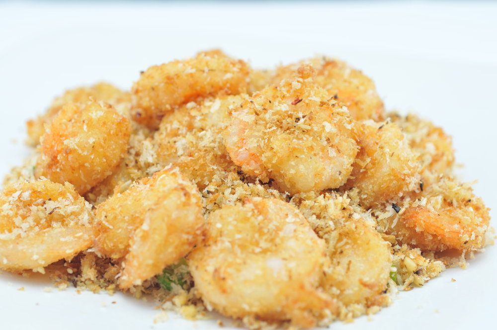 Golden Sesame King Prawns