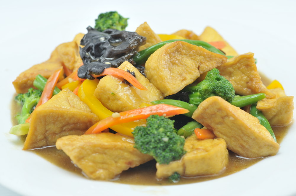 Deep Fried Tofu with Vegetables