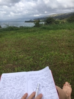 Mapping out my vision at Lake Arenal