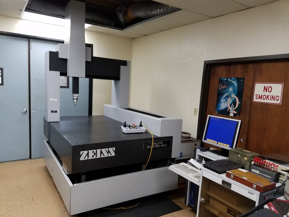 Zeiss CMM measuring station used to insure part accuracy at magna tool