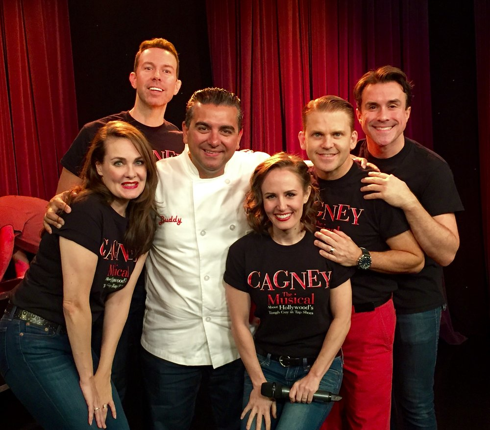 Cake Boss Buddy Valastro with the cast of CAGNEY