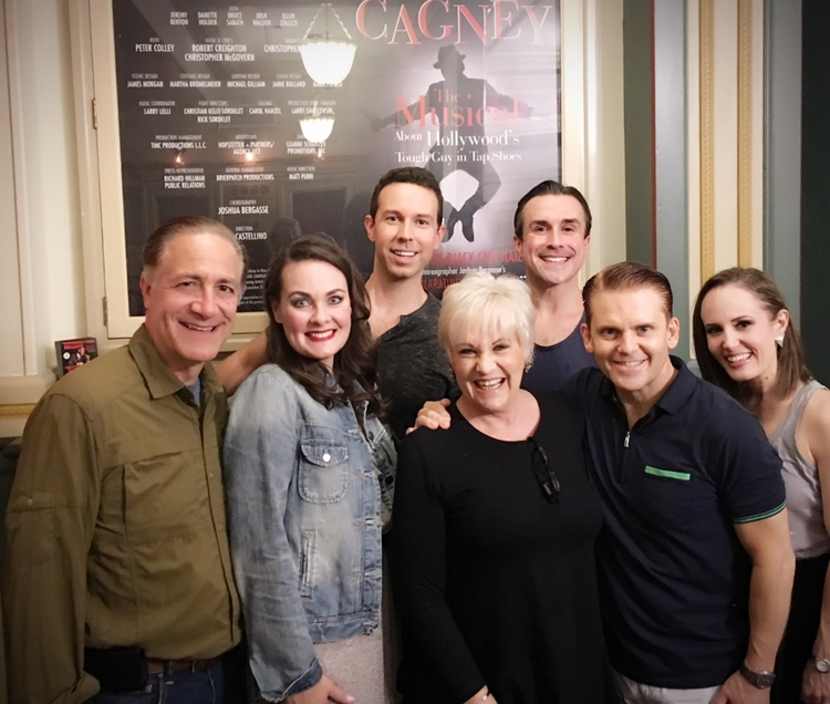 Lorna Luft with the cast of CAGNEY