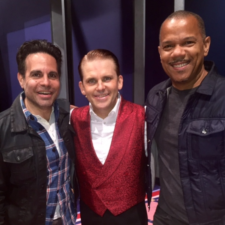 Mario Cantone and Jerry Dixon with Robert Creighton