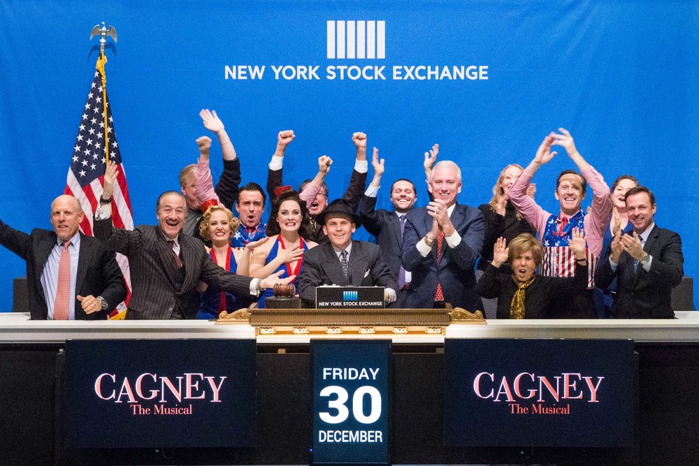 CAGNEY gathers at New York Stock Exchange to ring closing bell