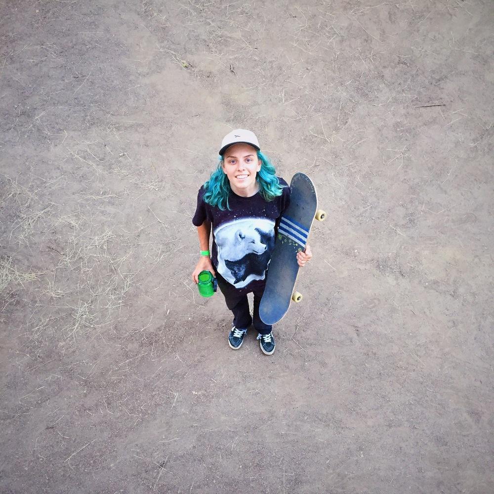 Skate like a girl! represent.