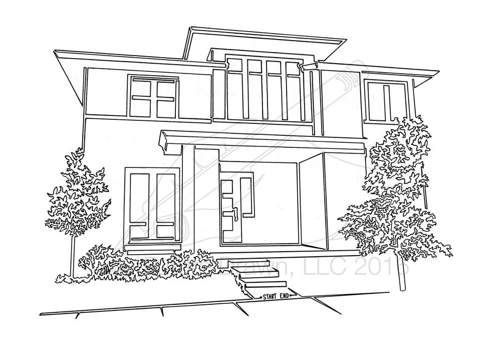 Contemporary Home in One LIne