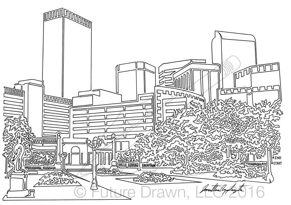 Denver Skyline in Oneline Civic Park wm Futuredrawn Applegate.jpg