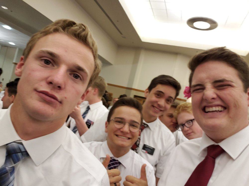 The entire squad (Elder Palmer and Elder Rollins are hiding in the back.)