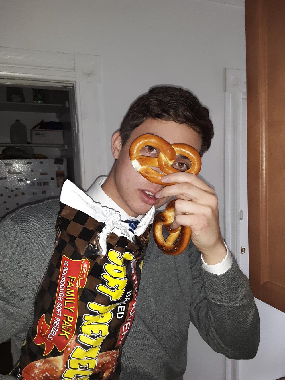 I'm the pretzel master.