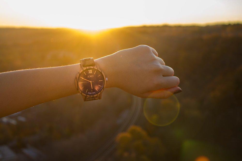 JORD Wooden Wristwatch - Zebrawood & Navy Frankie35