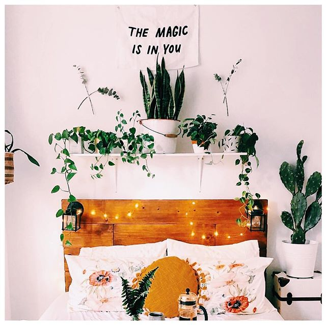 Bedroom goals 🙌🏼 via @jaglever. Someone teach me how to keep plants alive 🙋🏻♀️