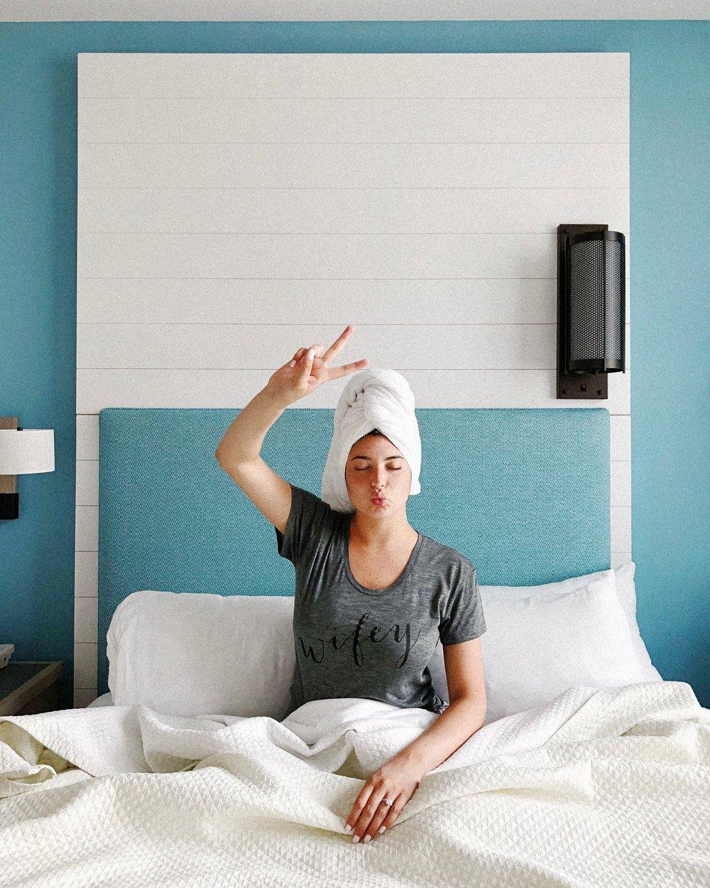 Hotel room towel wrap photo