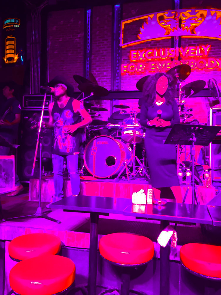 """A Pattayan bar band delighted us with renditions of """"Purple Rain"""" and """"Billie Jean."""""""
