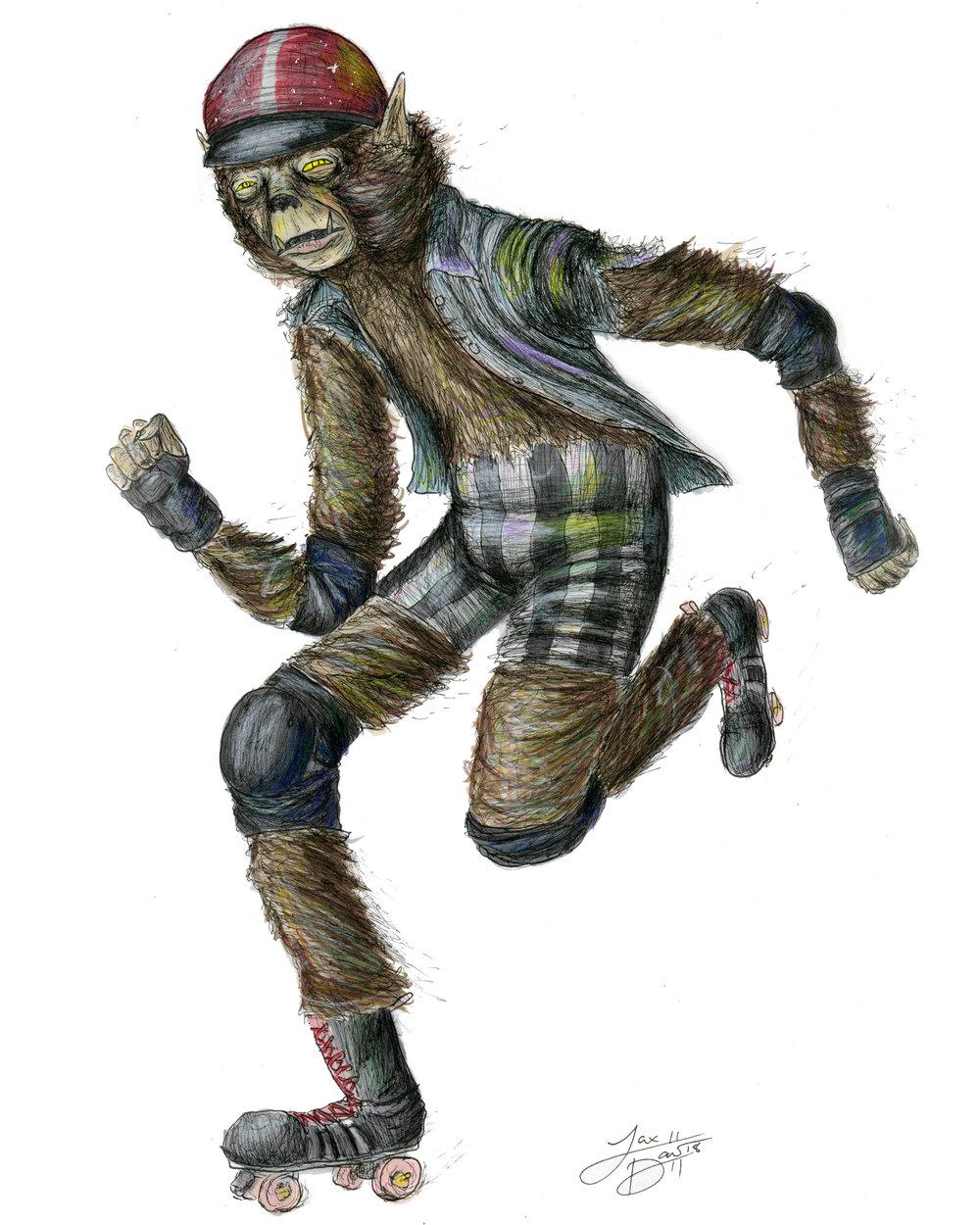 Roller Derby Wolfman