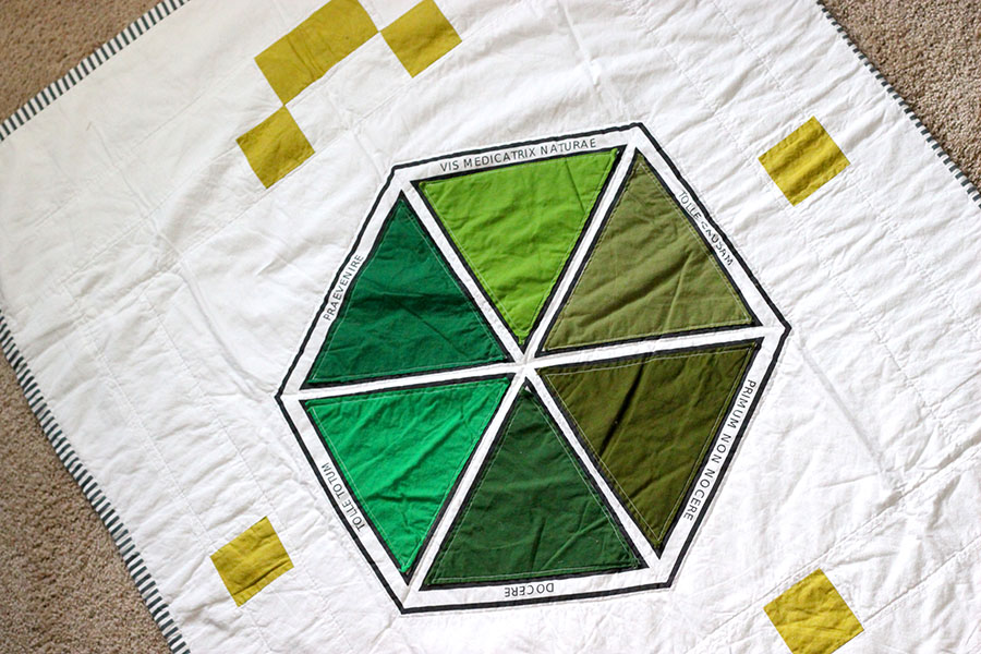 naturopathic principles quilt. crown of lilies blog.