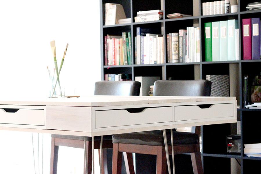 DIY IKEA Alex Hairpin Leg Work Table