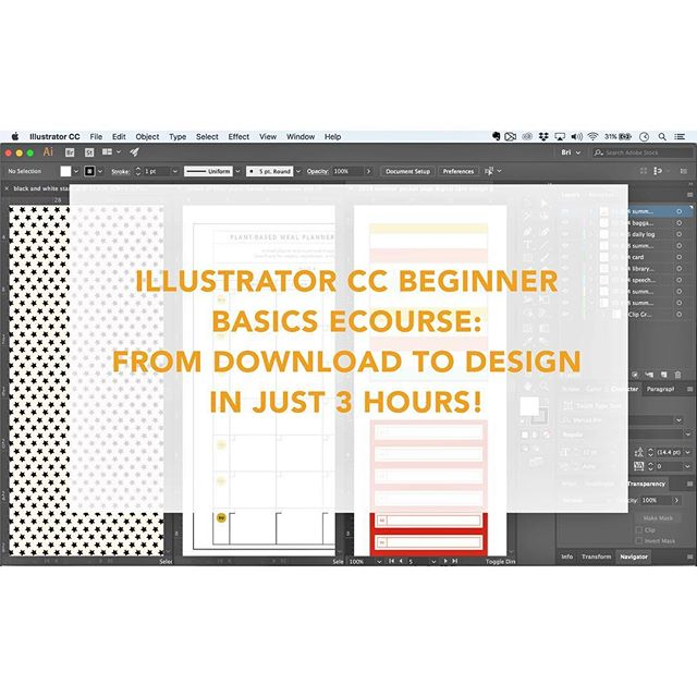 Last week, I launched an #adobeillustrator cc beginner basics online crash course! It includes six jam-packed 30-minute sessions with clear and concise instruction to help you master the basics. No more wasting your time with 10-hour courses! It's the class I wish I had when I was starting out. Link to register in profile! #adobe #design #graphicdesign #ecourse #illustrator #stationery #paperdesign #papercrafting #biz #girlboss #art