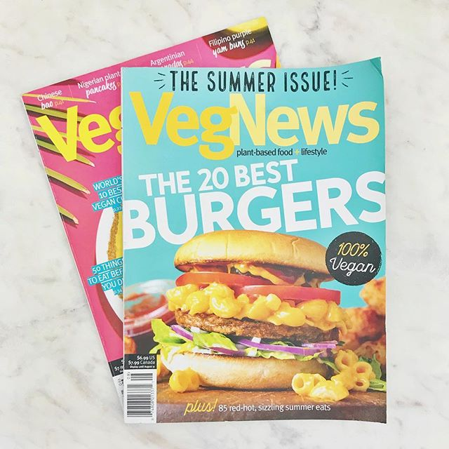 Taking a little time out of this Sunday afternoon to enjoy my favorite magazine. I'm crushing hard on those #veganburgers. 😋