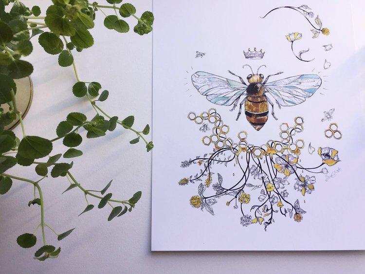 Unique Queen Bee' print — Sarah clement YG64