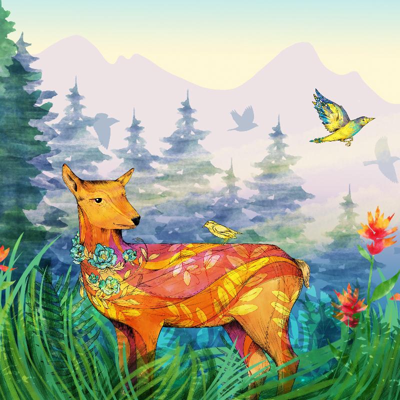 SarahClement_BCCH_Mural_Deer_3.jpg