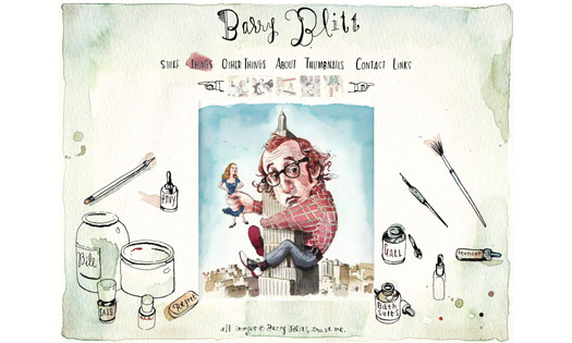 BARRY BLITT, ARTIST   (SQUARE SPACE SITE DESIGN)