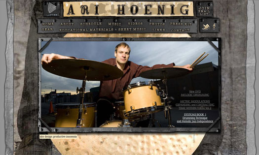 ARI HOENIG, MUSICIAN (COLLAGE, SITE DESIGN)