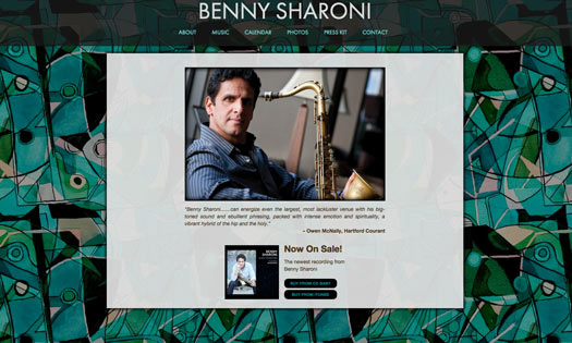 BENNY SHARONI, MUSICIAN (BACKGROUND PAINTING, SITE DESIGN)