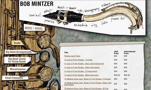 BOB MINTZER, MUSICIAN(ILLUSTRATIONS, SITE DESIGN)