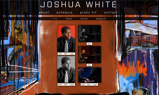 JOSHUA WHITE, MUSICIAN  (BACKGROUND PAINTING, SITE DESIGN)