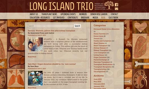 LONG ISLAND TRIO, ORGAN DONOR FOUNDATION (BACKGROUND WOODCUT, DESIGN)