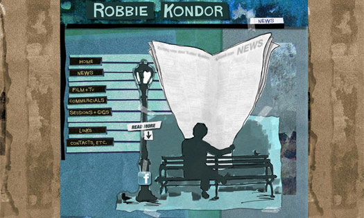 ROBBIE KONDOR, MUSICIAN (COLLAGE, ILLUSTRATIONS, SITE DESIGN)