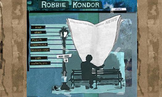 ROBBIE KONDOR, MUSICIAN (COLLAGE, ILLUSTRATIONS, SITE DESIGN)