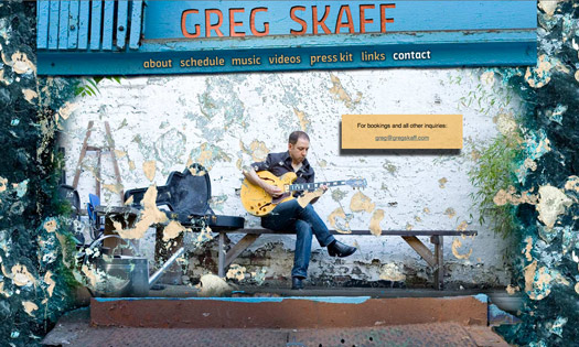 GREG SKAFF, MUSICIAN (COLLAGE, SITE DESIGN)