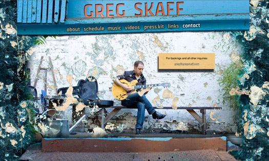 GREG SKAFF, MUSICIAN (COLLAGE, SITE DESIGN)